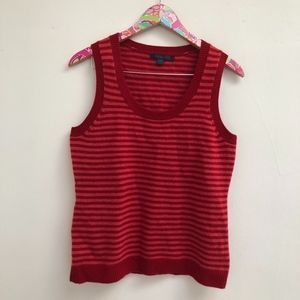 100% wool Boden striped vest size 14